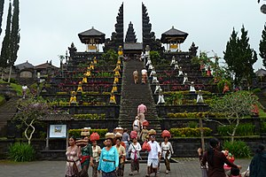 Balinese architecture - Mother temple Besakih.
