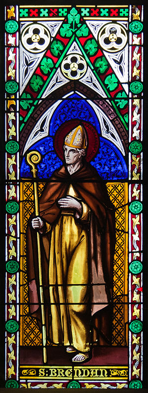 Frederick Settle Barff - Detail (St Brendan) Stained Glass Window, St Michael's Church