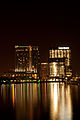 Baltimore Marriott Waterfront Hotel and Legg Mason Tower, night.jpg