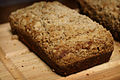 Banana Bread with Streusel on wood board, August 2008.jpg