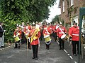 Band assembling at the start of the Old Club Parade - geograph.org.uk - 1319574.jpg