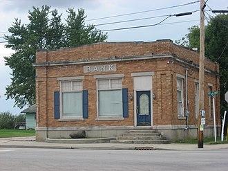 Boston, Indiana - A downtown bank