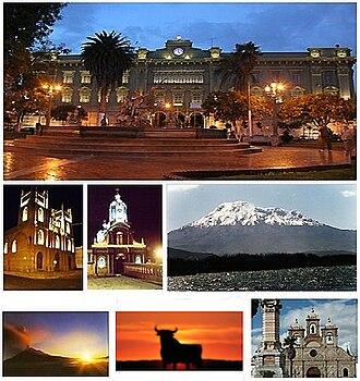 Riobamba - Image: Banner Riobamba Ciudad Bonita