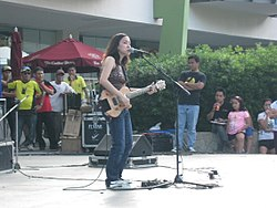 Barbie Almalbis performing at the Ayala Center Cebu's Eco Dash: The Bottle School Run