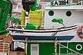 Barco salvavidas en embarcación pesqueira de Portosín.jpg