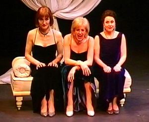 Fascinating Aïda - (from left to right) Adèle Anderson, Dillie Keane and Marilyn Cutts performing in Barefaced Chic! at the Lyric Hammersmith.
