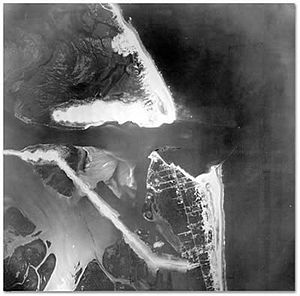 Barnegat Inlet - Aerial photo of the Barnegat Inlet in 1944