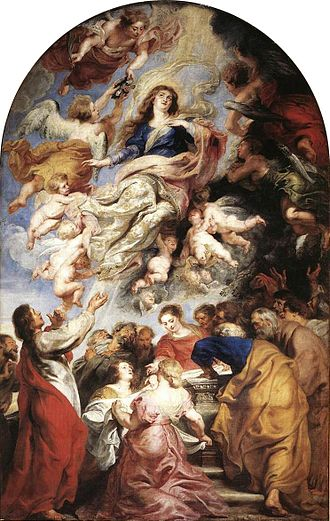 Papal infallibility - The only ex cathedra application of papal infallibility since its solemn declaration has been for the Marian Dogma of Assumption in 1950. Painting of the Assumption, Rubens, 1626