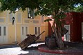 Barrels and Wagons, Hotel Kura Hulanda, Willemstad (4387062776).jpg