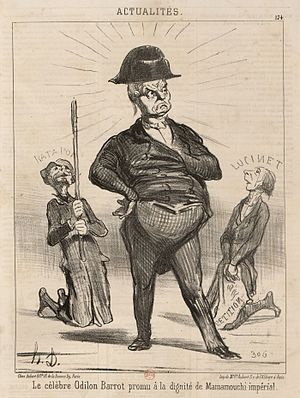 "Odilon Barrot - ""The famous Odilon Barrot promoted to the dignity of imperial Mamamouchi"" by Honoré Daumier"