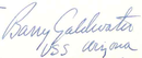 Firma di Barry Goldwater