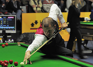 Barry Hawkins - Hawkins playing at German Masters 2013.