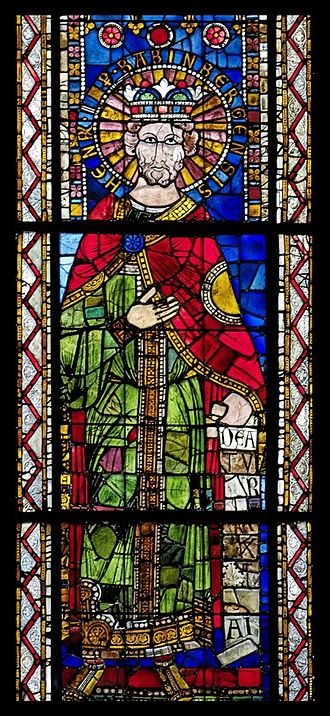 Henry II, Holy Roman Emperor - 12th-century stained glass depiction of Henry II, Strasbourg Cathedral
