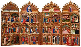 Polyptych with Scenes from the Life of Christ, the Life of the Virgin, and Saints