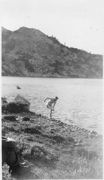File:Bathing in 3rd Lake on 20 Lakes Creek - NARA - 293424.tiff