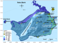 Bathymetric map of Saba Bank with fish stations marked - pone.0010676.g001.png