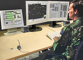 Western Air Defense Sector - Battle Control System – Fixed (BCS-F) display, used at the WADS Sector Operations Control Center (SOCC) at McChord AFB.