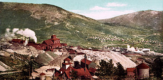 Cripple Creek, Colorado - Battle Mountain mines, Cripple Creek in 1898