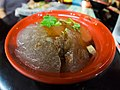 Bawan with sauce at table in a restaurant somewhere in Daxi.jpg