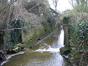 Baybridge Canal - The disused lock at the lower end of the canal