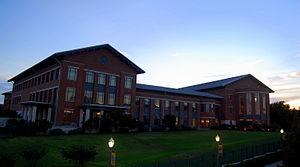 Baylor Law School - Baylor Law School at dusk.