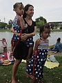 Bayou St John 4th of July NOLA 2012 Heart Skirt Girls.JPG