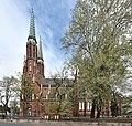 Bazylika katedralna św. Michała Archanioła i św. Floriana Męczennika w Warszawie od strony ul. Sierakowskiego.jpg