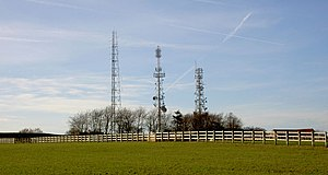 Trax FM - Clifton transmitter on Beacon Hill, north of the M18