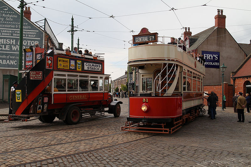The Beamish Museum open air bus, Durham, England