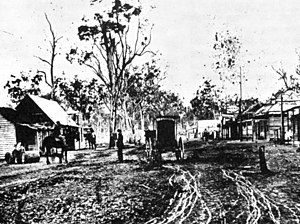 Henry Beaufoy Merlin - Beaufoy Merlin's 'coating' caravan, photographed near Gulgong, New South Wales, 1872