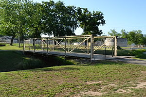 National Register of Historic Places listings in Fayette County, Texas - Image: Bedstead Truss Bridge, Schulenburg, Texas
