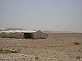 Beduinenzelt bei der Rast im Bagdad Cafe bei der Fahrt durch die Wüste von Palmyra nach Damaskus (38674686652).jpg