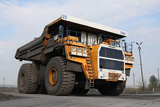 Haul truck - Image: Bel AZ 75600