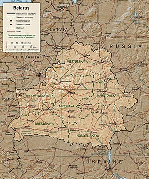 Geography of Belarus - Detailed map of Belarus
