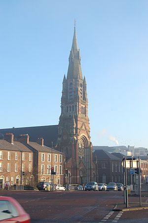 New Lodge, Belfast - The local Catholic church is St. Patrick's on Donegall Street