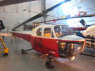 Bell 47 - A Bell 47B on display at the Steven F. Udvar-Hazy Center, 2011