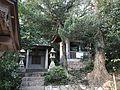 Bell tower and Kebiishi Shrine in Sumiyoshi Shrine.jpg