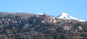 Alpes-Maritimes - Belvédère in the Vesubie valley, one of the many villages perched in the Alpes-Maritime.