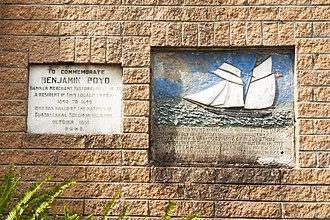 Benjamin Boyd - Commemorative plaque at Ben Boyd Road, Neutral Bay, NSW, Australia.