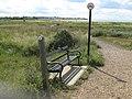 Bench on Saxon Shore Way - geograph.org.uk - 1420630.jpg