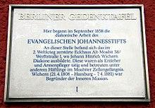 Dewiki Johann Hinrich Wichern
