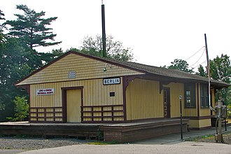 Berlin, New Jersey - Long-A-Coming Depot, built in 1856 in Berlin and believed to be the oldest Surviving railroad station in New Jersey