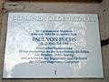 Berliner Gedenktafel Paul von Fuchs 02.jpg