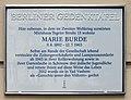 Berliner Gedenktafel Tegeler Str 15 (Weddi) Marie Burde.jpg
