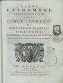 Bernardino Zendrini – Leggi e fenomeni, regolazioni ed usi delle acque c, 1741 - BEIC 12805127.tif
