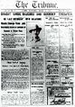 Bhagat Singh's execution Lahore Tribune Front page.jpg