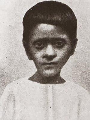 Bhaktivinoda Thakur - Kedarnath Datta's seventh child Bimala Prasad, age 7 (1881)