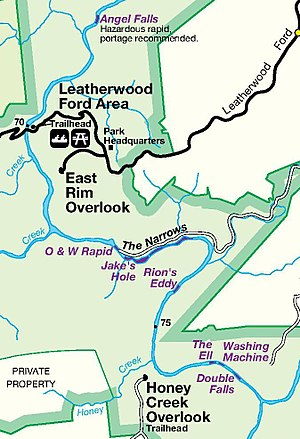 Big South Fork of the Cumberland River - Image: Big South Fork National Park Service Map (page 1 crop)