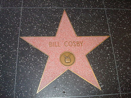 Star on the Hollywood Walk of Fame awarded in 1977 Bill-Cosby.JPG