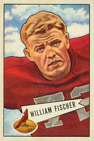 Bill Fischer (American football) - Fischer on a 1952 Bowman football card